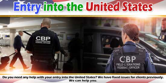 Entry into United States