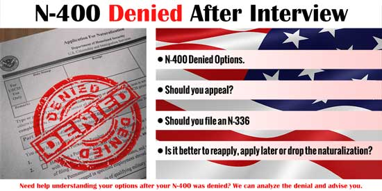 N-400 Denied after Interview - Immigration Law of Montana
